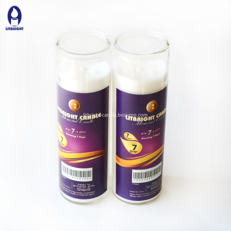 High quality 7 days Jewish glass candle Featured Image