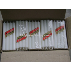 White candles from 10g to 100g