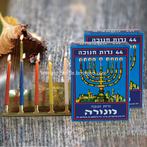 Chanukah Candles Colored Spiral Taper Candles Featured Image