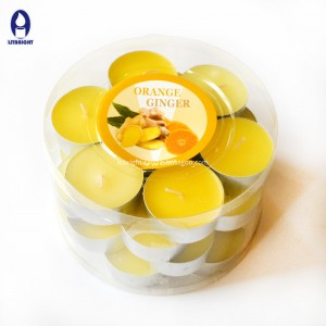 2018 new design popular scented and colorful tealight candles