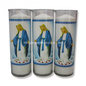 Mason jar candles for religious decorations